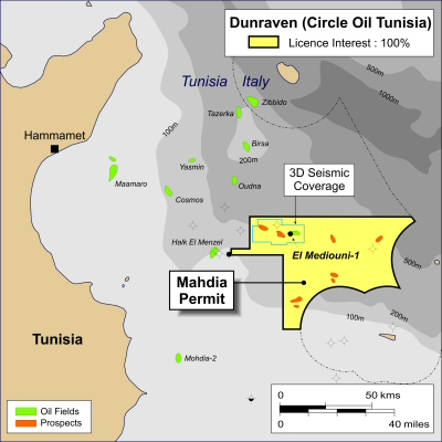 Dunraven Tunisia Map